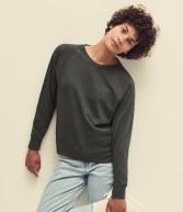 SS180: Fruit of the Loom Lady Fit Lightweight Raglan Sweatshirt