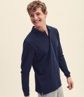 SS24: Fruit of the Loom Long Sleeve Premium Pique Polo Shirt