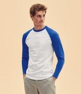 SS32: Fruit of the Loom Contrast Long Sleeve Baseball T-Shirt