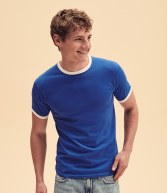 SS34: Fruit of the Loom Contrast Ringer T-Shirt