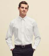 SS402: Fruit of the Loom Long Sleeve Oxford Shirt