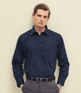 SS412: Fruit of the Loom Long Sleeve Poplin Shirt