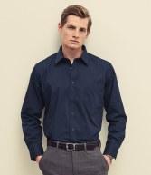 SS412: Fruit of the Loom Long Sleeve Poplin Shirt
