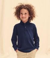 SS45B: Fruit of the Loom Kids Long Sleeve Pique Polo Shirt