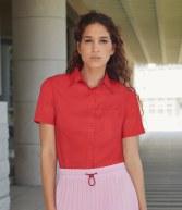 SS481: Fruit of the Loom Lady Fit Short Sleeve Poplin Shirt