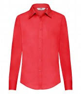SS482: Fruit of the Loom Lady Fit Long Sleeve Poplin Shirt