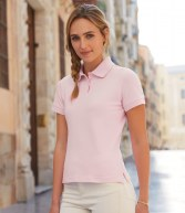 SS75: Fruit of the Loom Lady Fit Cotton Pique Polo Shirt