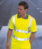 WD043: Dickies High Visibility Polo Shirt
